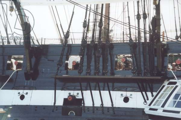 Gundecks of the USS Constitution (photo)