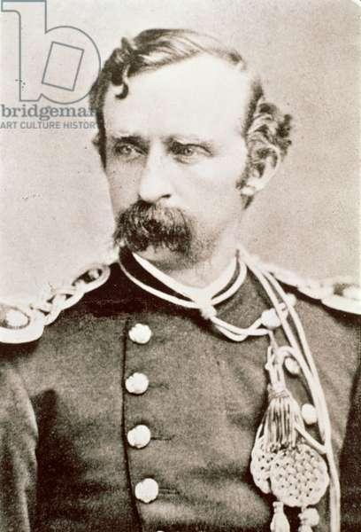 General George A. Custer, 1876 (b/w photo)