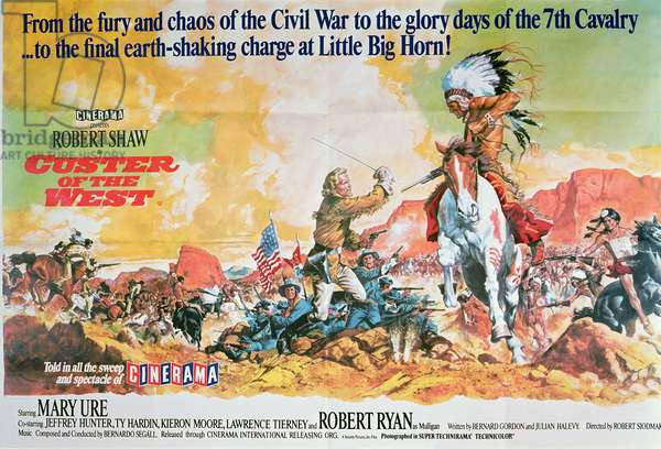 Poster for the film 'Custer of the West' directed by Robert Siodmak, 1967 (colour litho)