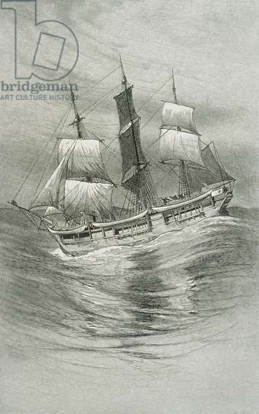 'An Old Whaler', for 'The Perils and Romance of Whaling' in Century Magazine, August 1890 (litho)