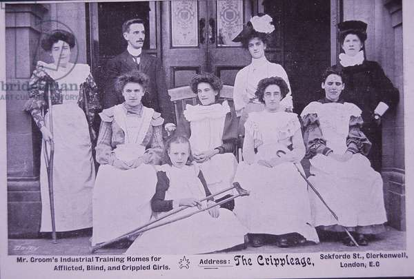 Schools for the Deaf and Dumb: Industrial Training Home for Afflicted, Blind and Crippled Girls, c.1905 (b/w photo)