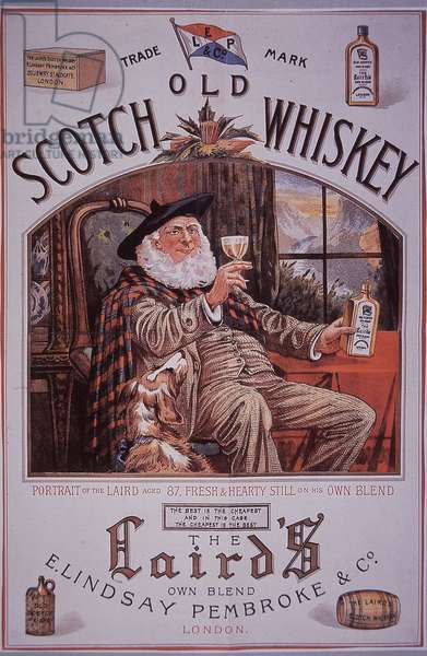 The Laird's Scotch Whiskey, c.1895 (colour litho)