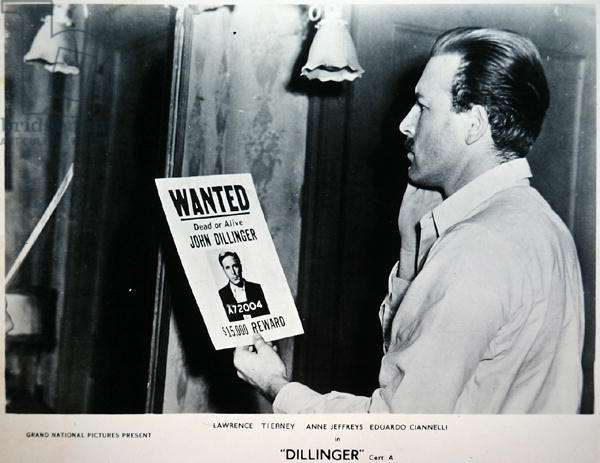 Lawrence Tierney (1919-2002) in the title role of 'Dillinger', 1945 (b/w photo)