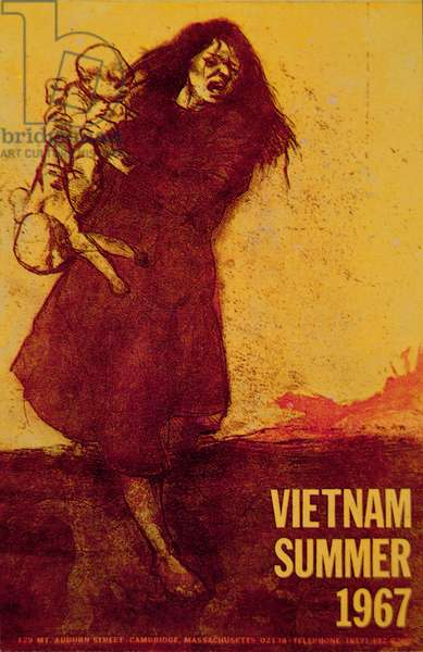 Vietnam, Summer 1967, anti-Vietnam War poster (colour litho)