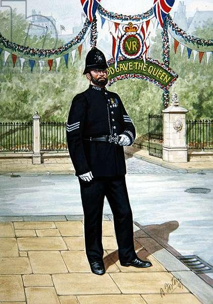 A Sergeant of 1897, 1987 (colour litho)