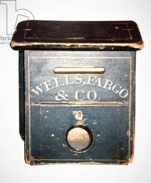 Original Wells Fargo & Co. letter box of the Old West, c.1880 (wood)