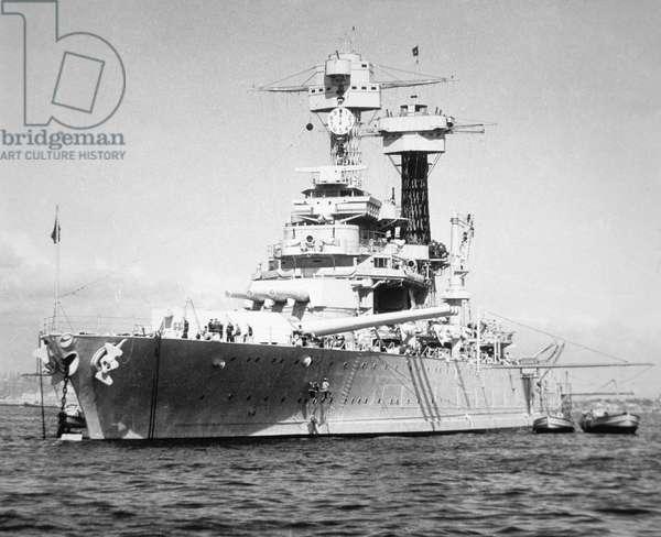 USS California (b/w photo)