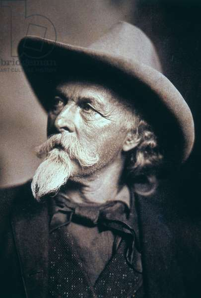 Buffalo Bill (1846-1917) in his latter years (b/w photo)