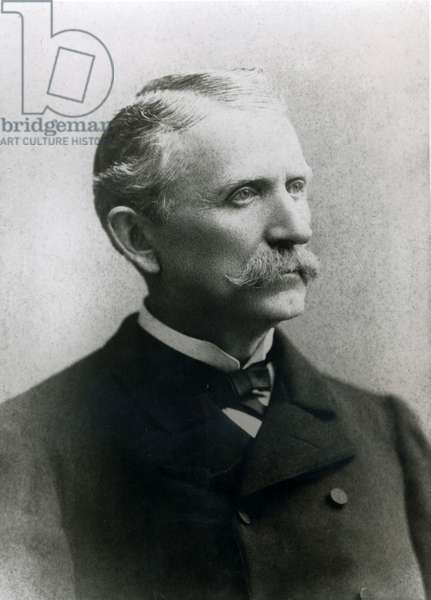 James B. Hume, Wells Fargo's chief of detectives (b/w photo)