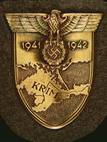 German Army Shield for the Krim (Crimea) Campaign, 1941-42 (metal)