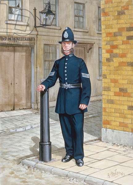 A Sergeant of 1865 (colour litho)