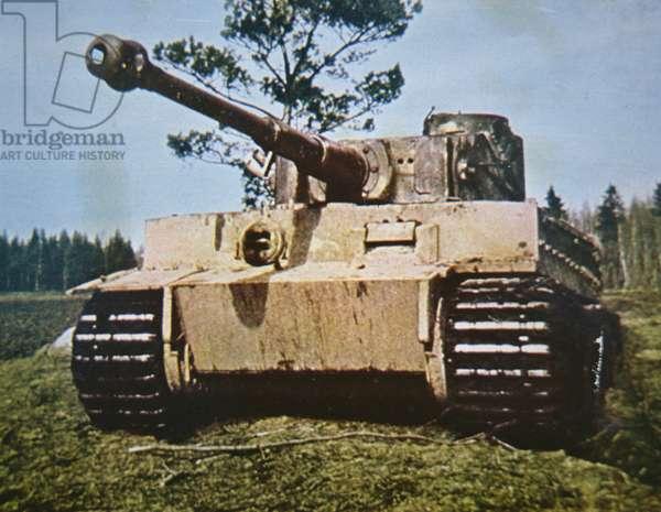 German PzKw VI Tiger tank of WW2, 1939-45 (photo)