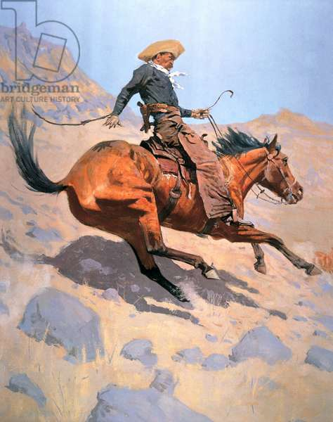 The Cowboy (oil on canvas)