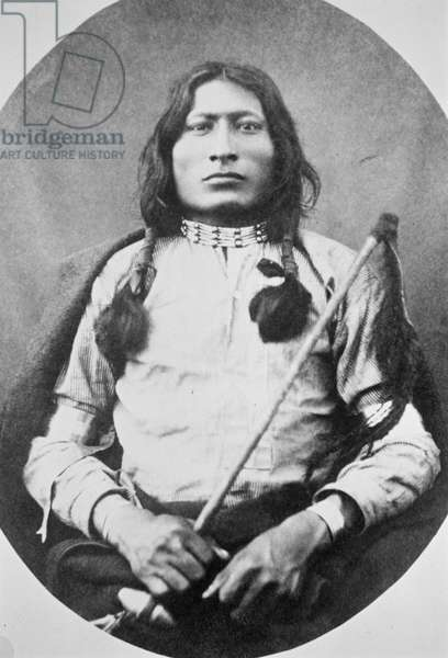 One Bull Warrior, 1882 (b/w photo)