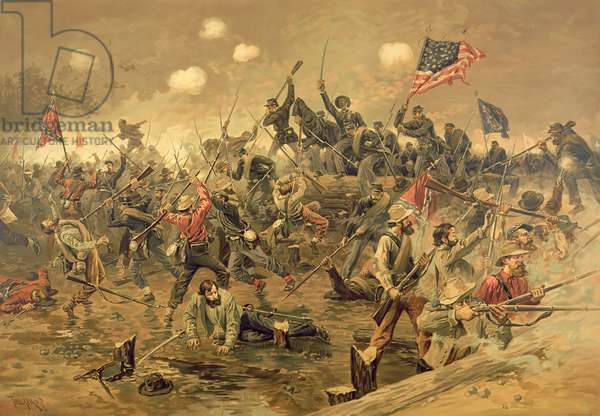Battle of Spottsylvania (colour litho)