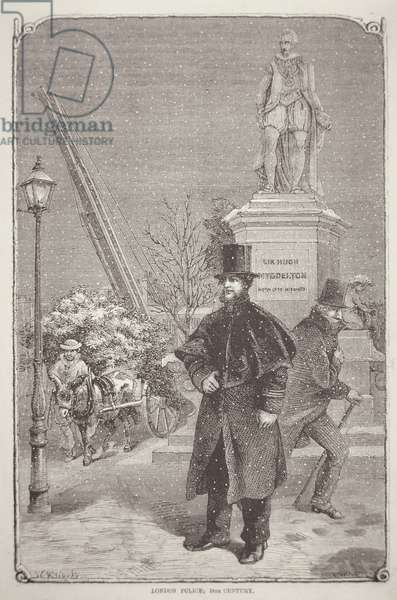 London policeman of the 1850s (engraving)