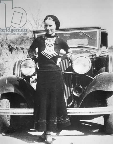Bonnie Parker, 1934 (b/w photo)