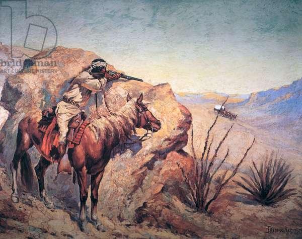 Apache Ambush (oil on canvas)
