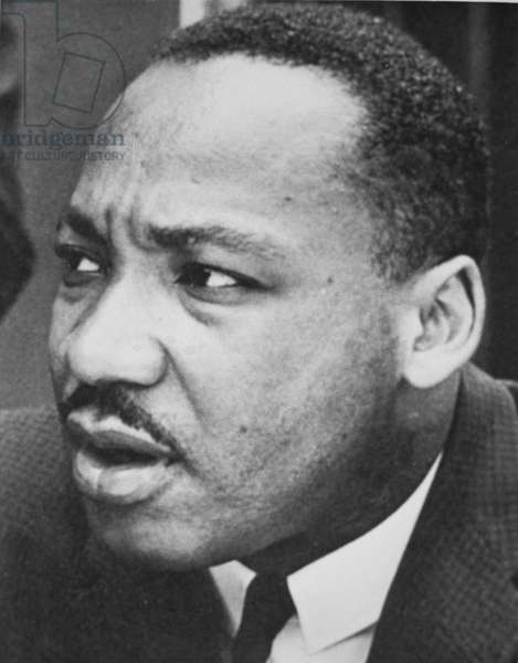 Martin Luther King Jr (1929-68) (b/w photo)