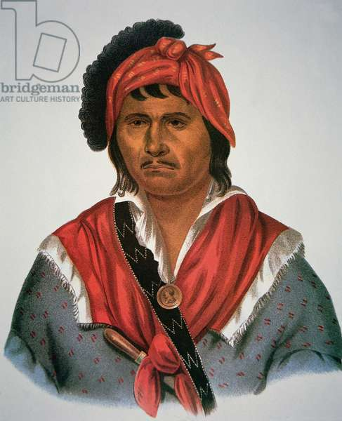 Neamathla Chief, 1826 (colour litho)
