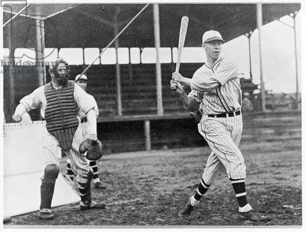 Floyd 'Babe' Herman, star of the Brooklyn Dodgers, 1920s (b/w photo)