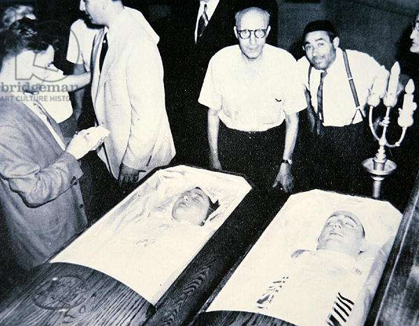 The Bodies of Julius and Ethel Rosenberg, 1953 (b/w photo)