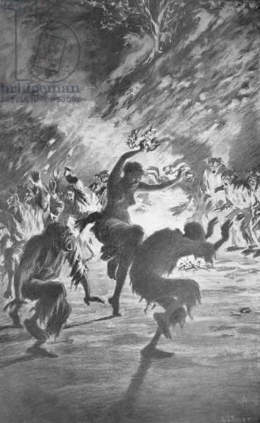 Haitian Voodoo Ritual, 1892 (litho)