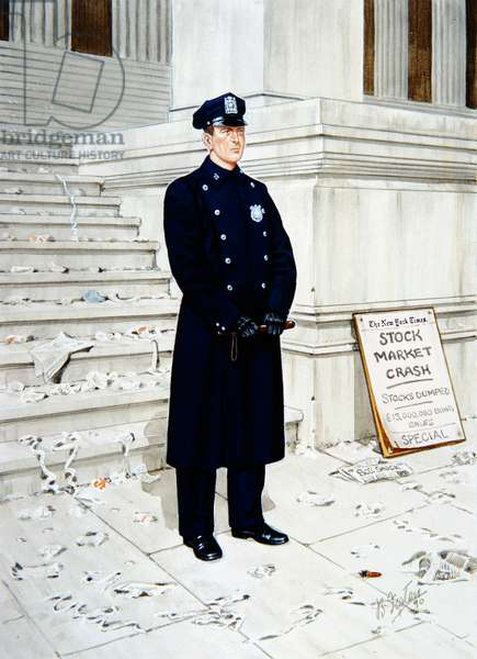 Police Officer in 1929, 1990 (colour litho)