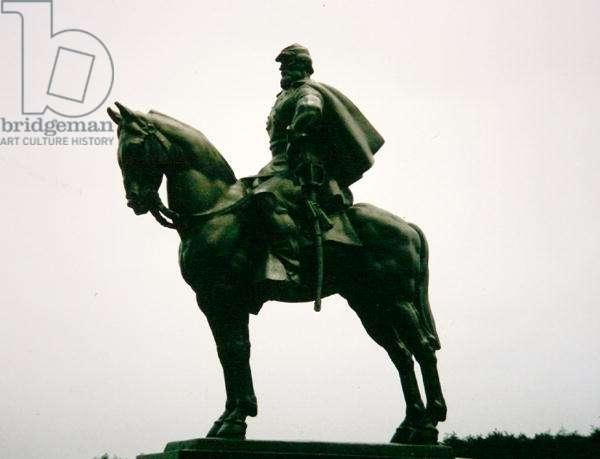 Equestrian Portrait of General Thomas Jonathan 'Stonewall' Jackson at Manassas battlefield, Virginia (bronze)