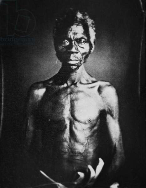 Renty, a slave taken from the Congo to the USA, 1850 (b/w photo)