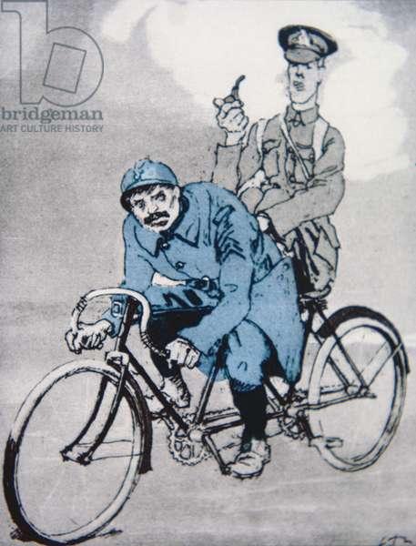 Anti-British cartoon from the German magazine Simplicissimus, 1939 (colour litho)