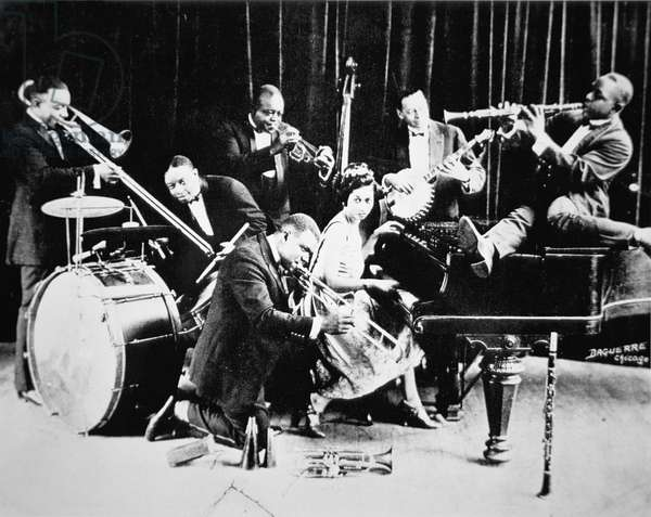 King Oliver's Creole Jazz band, 1920 (b/w photo)