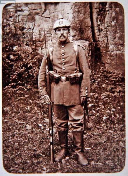 German infantryman, c.1914 (b/w photo)