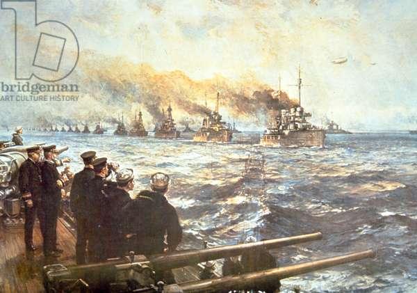 Surrender of German High Seas Fleet, 21 November 1918 (colour litho)