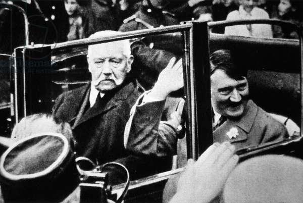 Hitler and President Hindenburg, 1933 (b/w photo)