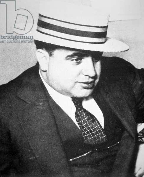 Al Capone (1899-1947) 1928 (b/w photo)