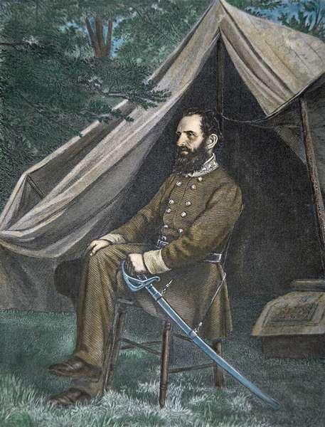 Portrait of General 'Stonewall' Jackson (colour litho)