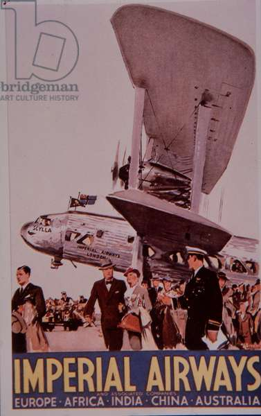 Imperial Airways, 1936 (colour litho)