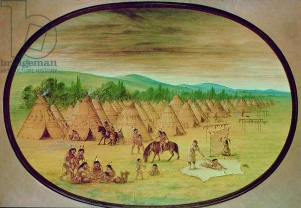 Tipi Village, c.1830 (oil on canvas)