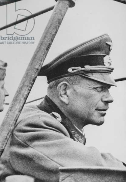 General Heinz Guderian during the invasion of France, June 1940 (b/w photo)
