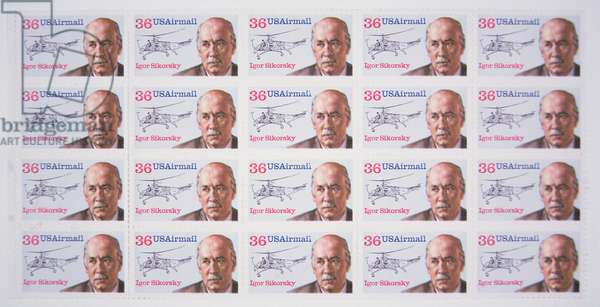US Airmail stamps honouring Igor Sikorsky (colour litho)