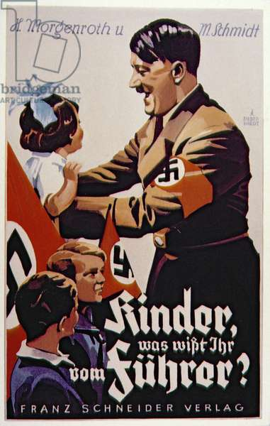 Hitler with children propaganda poster, 1934 (colour lithography)