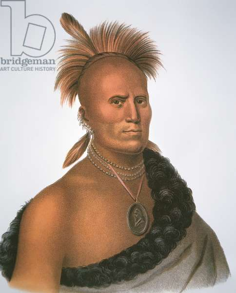 Chief Sharitarish, 1821 (colour litho)