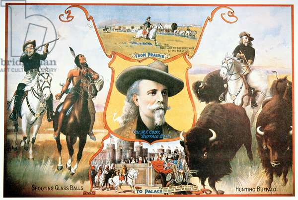 Poster for Buffalo Bill's (1846-1917) Wild West Show, 1910 (colour litho)