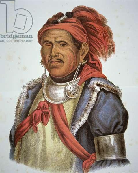 Tenskwatawa (1775-1836) (colour litho)