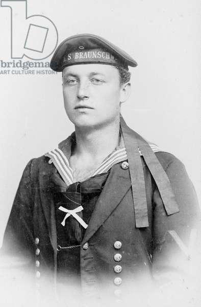 German sailor, First World War (b/w photo)