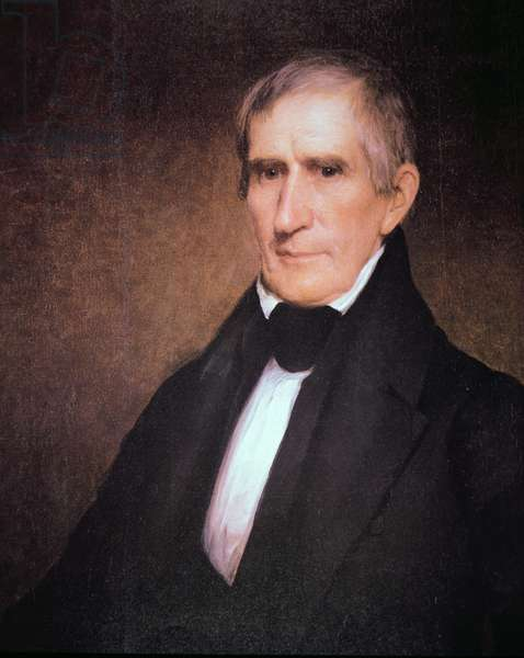 William Henry Harrison (1773-1841) (colour litho)