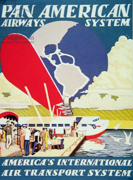 Pan American Airways System poster, 1929 (colour litho)