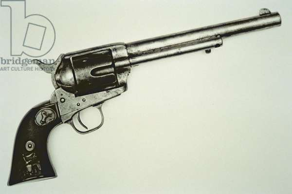 The 'Peacemaker' Colt .45 six-shot revolver of 1873 (photo)