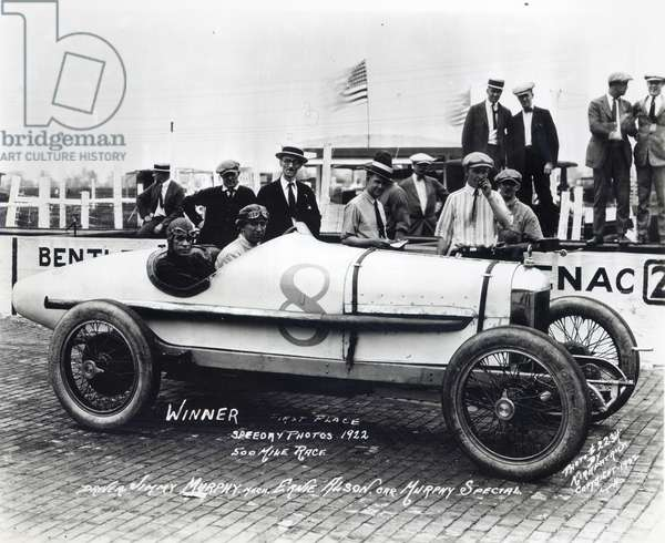 Jimmy Murphy, winner of the Indianapolis 500 Mile Race, 1922 (b/w photo)